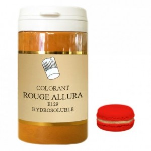 Powder hydrosoluble colour high concentration allura red 100 g