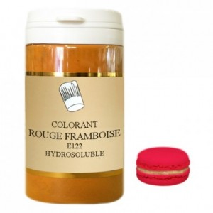 Colorant poudre hydrosoluble haute concentration rouge framboise 50 g
