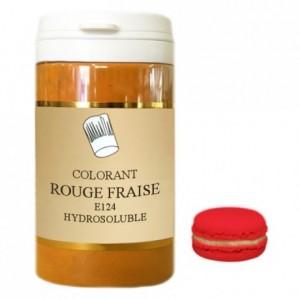 Colorant poudre hydrosoluble haute concentration rouge fraise 50 g