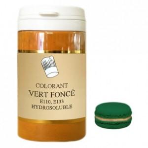 Colorant poudre hydrosoluble haute concentration vert foncé 500 g