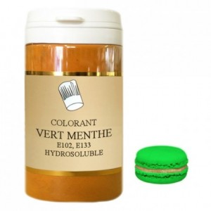 Colorant poudre hydrosoluble haute concentration vert menthe 50 g