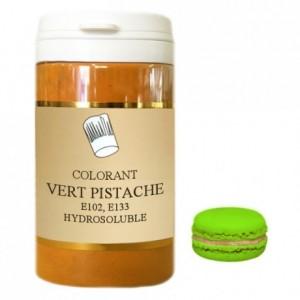 Colorant poudre hydrosoluble haute concentration vert pistache 50 g