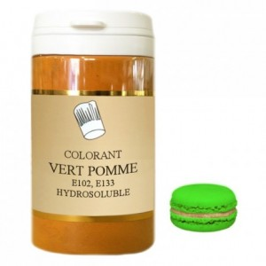 Colorant poudre hydrosoluble haute concentration vert pomme 100 g