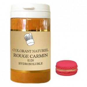 Colorant poudre hydrosoluble naturel rouge carmin 50 g