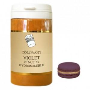 Colorant poudre hydrosoluble haute concentration violet 50 g