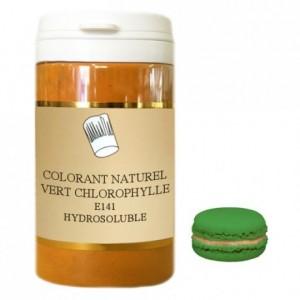 Colorant poudre hydrosoluble naturel vert chlorophylle 50 g