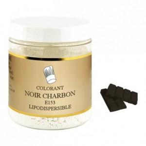 Colorant poudre liposoluble noir charbon végétal 1 kg