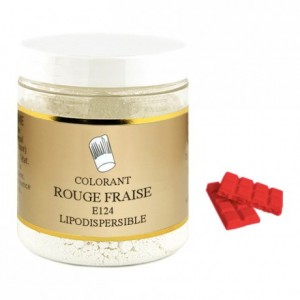 Powder liposoluble colour strawberry red 100 g