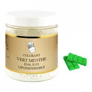 Colorant poudre liposoluble vert menthe 100 g