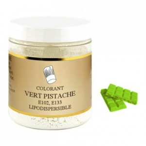 Colorant poudre liposoluble vert pistache 500 g
