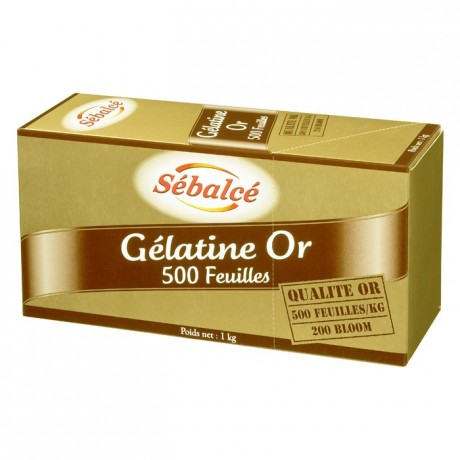 Gelatin sheets 500 units (gold strength 200 bloom) 1 kg