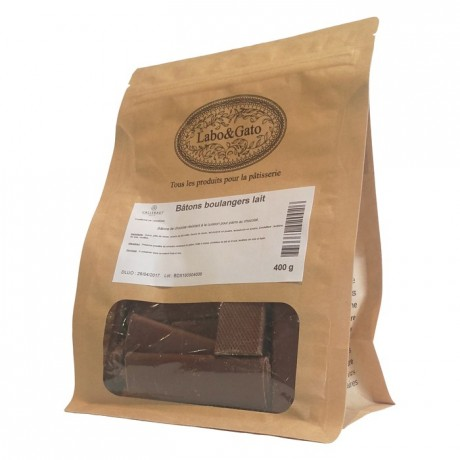 Milk chocolate extruded bâtons boulangers (40 sticks 400g)