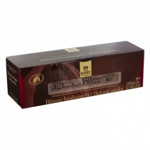 Milk chocolate extruded bâtons boulangers 30,2% cacao (160 sticks 1,6 kg box)