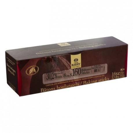Milk chocolate extruded bâtons boulangers 30,2% cacao (160 sticks 1,6 kg box)