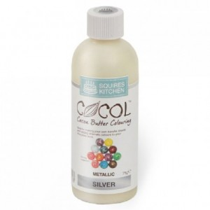 SK Cocol Metallic Cocoa Butter Colouring Silver 75g