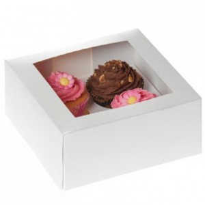 House of Marie Cupcake Box 4 White pk/2