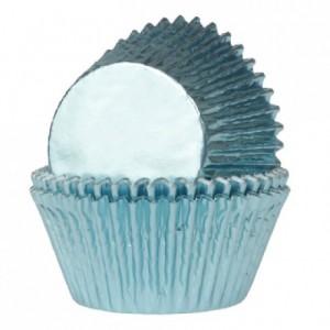 Caissettes House of Marie Foil Baby Blue 24 pièces