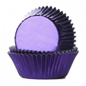 Caissettes House of Marie Foil Purple 24 pièces