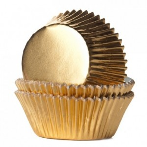 House of Marie Baking Cups Foil Gold pk/24