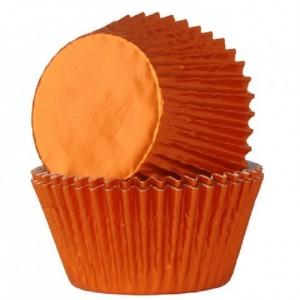 Caissettes House of Marie Foil Orange 24 pièces