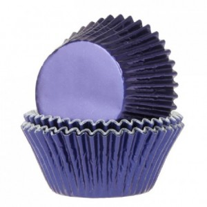 House of Marie Baking Cups Foil Navy Blue pk/24