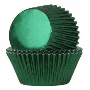 House of Marie Baking Cups Folie Green pk/24