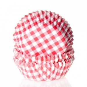 Caissettes House of Marie Gingham Red 50 pièces