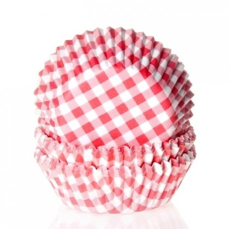 100 RED /& blue plaid  Cupcake liners baking paper cup muffin case 50x33