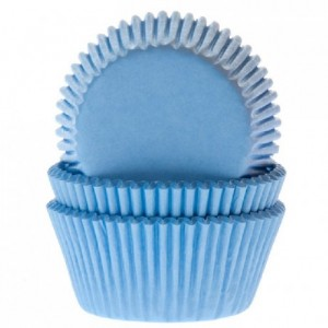 Caissettes House of Marie Light Blue 50 pièces