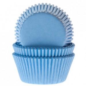House of Marie Baking Cups Light Blue pk/50