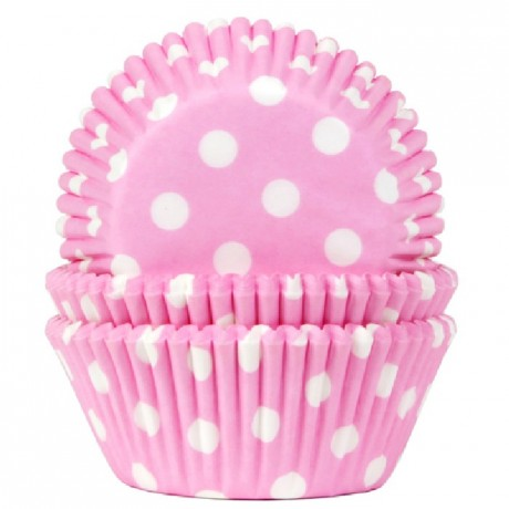 Caissettes House of Marie Polkadot Baby Pink 50 pièces