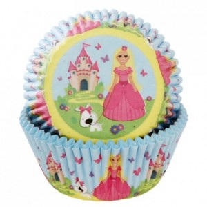 House of Marie Baking Cups Princess pk/50