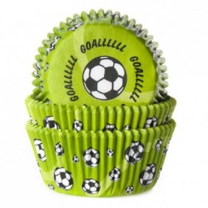 Caissettes House of Marie Soccer Green 50 pièces