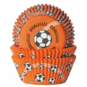 Caissettes House of Marie Soccer Orange 50 pièces