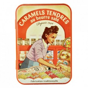 Salted butter caramels iron box La Maison d'Armorine 150 g