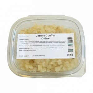 Candied lemon cubes 250 g