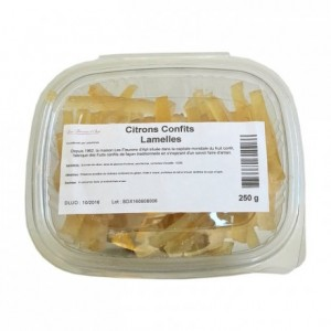 Candied lemon strips 250 g
