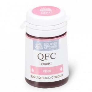 Colorant liquide QFC Squires Kitchen Pink 20 mL