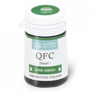 Colorant liquide QFC Squires Kitchen Dark Green 20 mL