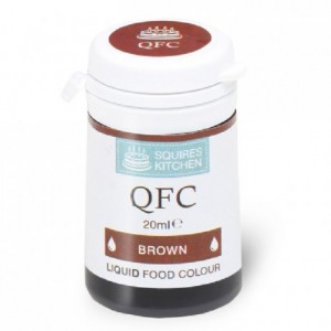 Colorant liquide QFC Squires Kitchen Brown 20 mL