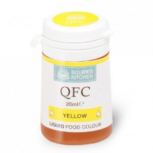 Colorant liquide QFC Squires Kitchen Yellow 20 mL