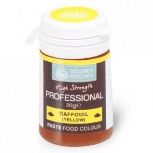 Colorant pâte Professional Squires Kitchen Daffodil Yellow 20 g