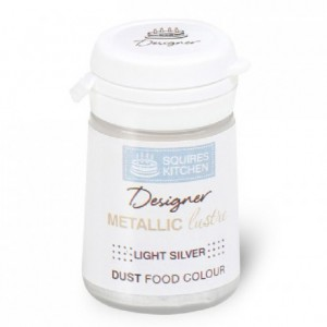 SK Designer Metallic Lustre Dust Light Silver 5g