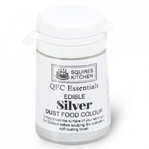 SK QFC Quality Food Colour Dust Silver 5g