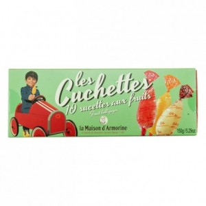 Cuchettes fruit lollipops 12 unities 168 g