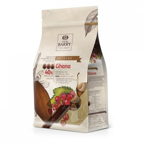 Ghana Origin 40,5% Milk chocolate couverture 1 kg