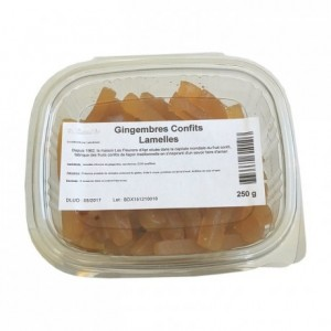 Candied ginger strips 250 g