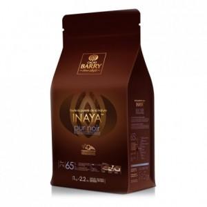Inaya 65% Q-Fermentation chocolat noir de couverture pistoles 1 kg