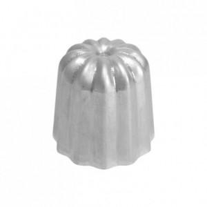 Moule à cannelés en aluminium poli Ø 35 mm
