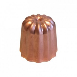 Moule à cannelés en cuivre étamé non poli Ø 35 mm